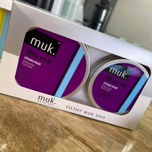 Buy Filthy MUK styling paste men Duo Pack hair wax Melbourne from Majesticcuts barbershop in Australia high quality to sell at the lowest price.